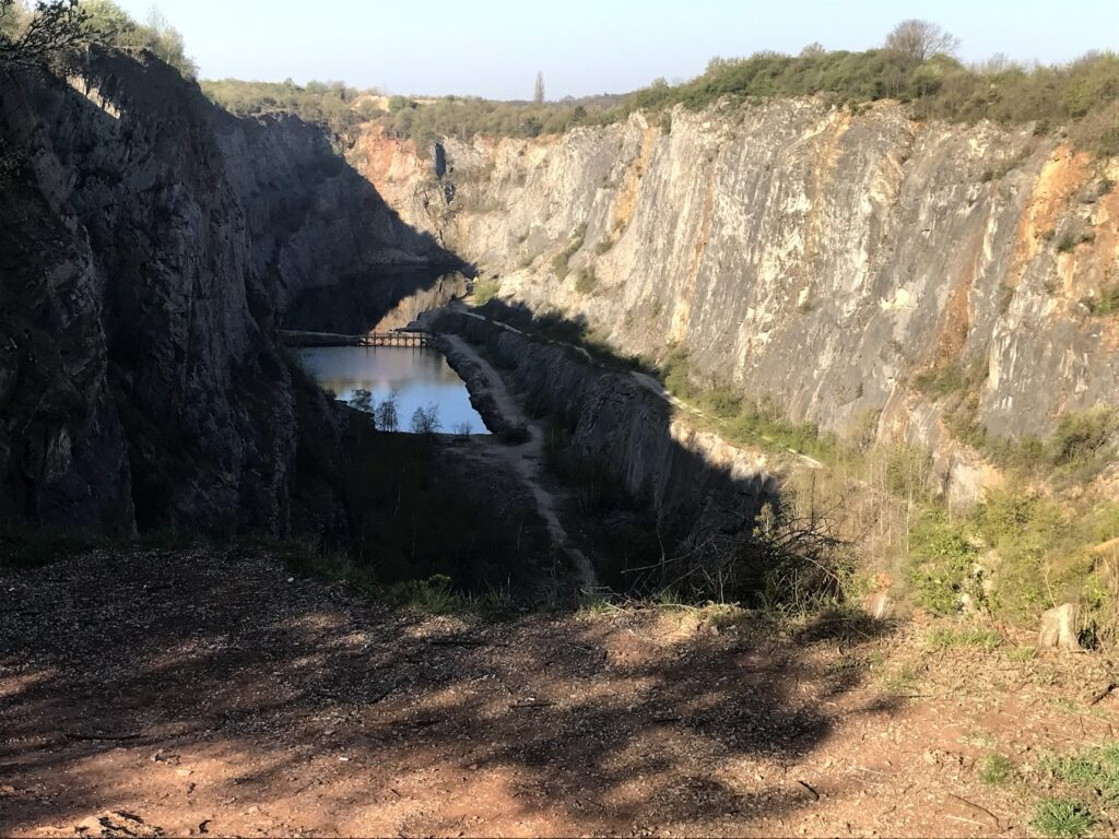 View of the quarry from above.